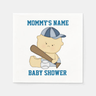 Personalized Baseball Baby Shower Paper Napkins