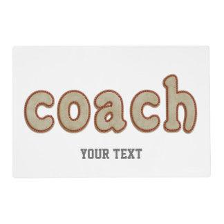 Personalized Baseball Ball coach placemat