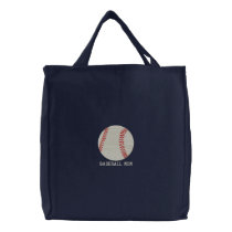Personalized Baseball Ball embroidered Bag