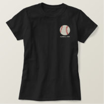 Personalized Baseball Ball embroidered Shirt