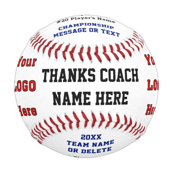 Personalized Baseball Ball for Coaches or Players