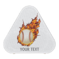 Personalized Baseball Ball on Fire Bluetooth Speaker