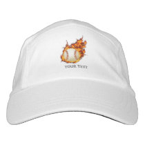 Personalized Baseball Ball on Fire Headsweats Hat