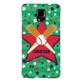 Personalized Baseball bats ball and stars Galaxy Note 4 Case