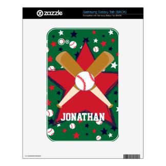 Personalized Baseball bats ball and stars Tablets Samsung Galaxy Tab Skin