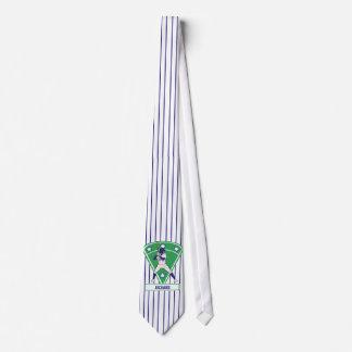 Personalized Baseball Batter Star Blue Neck Tie