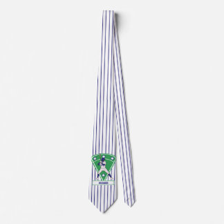 Personalized Baseball Batter Star Blue Tie