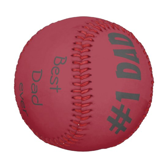 Personalized Baseball/Best Dad ever Baseball
