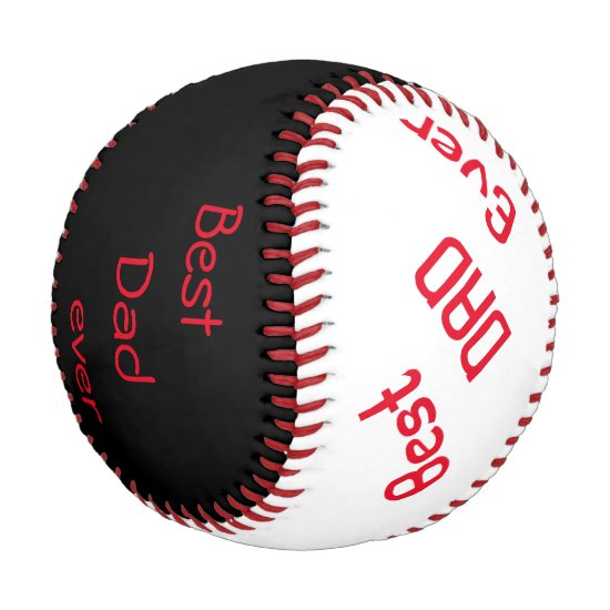 Personalized Baseball/Best Dad ever/ Baseball