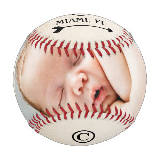 Personalized Baseball Birth Announcement Baby Boy