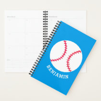 Personalized Baseball Blue Kids Sports Planner