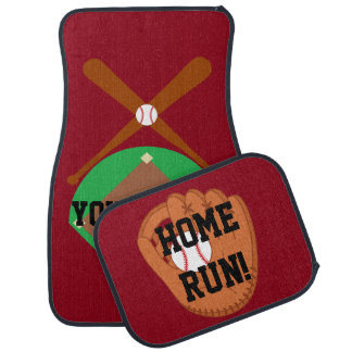PERSONALIZED BASEBALL Car Mats Full Set (set of 4)