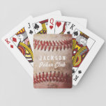 """Personalized Baseball Card Deck   Playing Cards<br><div class=""""desc"""">A real baseball photograph with personalized text.  Customize further to change font color style etc.   Original baseball photo by Becky Nimoy</div>"""