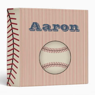 Personalized Baseball Card Scrapbook Binder Gift
