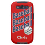 Personalized Baseball Case Samsung Galaxy S3 Covers