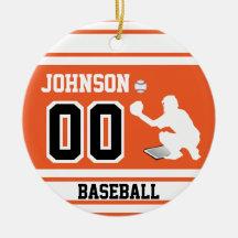 Baseball Ornaments Personalized Personalized Baseball Catcher Ornament