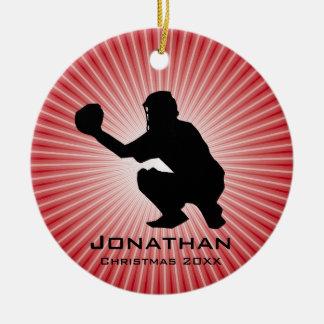 Personalized Baseball (Catcher) Ornament
