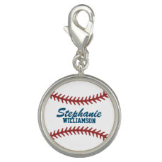Personalized Baseball Charm