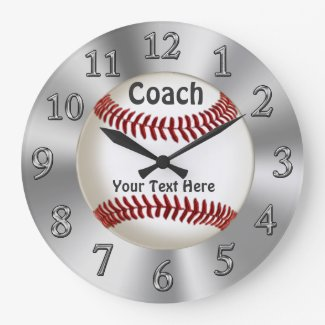 Personalized Baseball Clock for Coaches