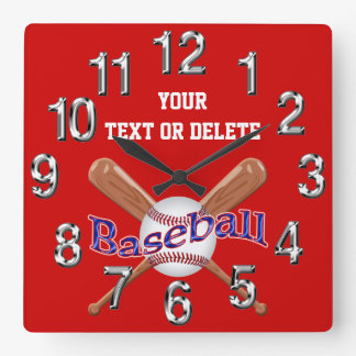 PERSONALIZED Baseball Clocks Change Colors, Text