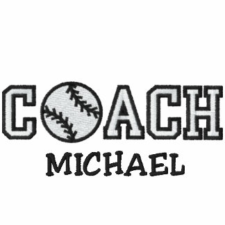 Personalized Baseball Coach Embroidered Polo Shirt