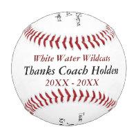 Personalized Baseball Coach Thank You Gifts