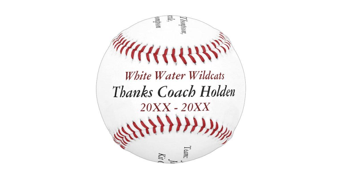 Personalized Baseball Coach Thank You Gifts Zazzle Com