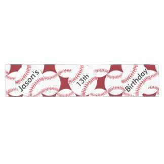 Personalized Baseball Design Table Runner