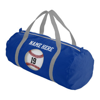 Personalized Baseball Duffle Bag, Your Name Number Gym Bag