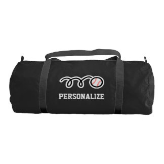 Personalized baseball duffle gym bag for players