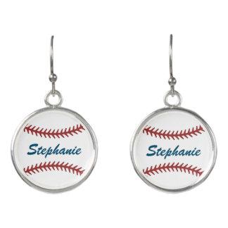 Personalized Baseball Earrings