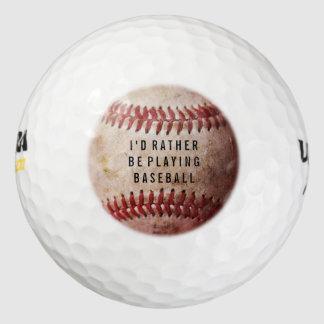 Personalized Baseball Fan's Custom Golf Ball Pack Of Golf Balls