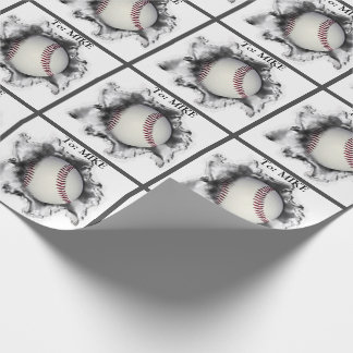 personalized baseball gift ideas wrapping paper