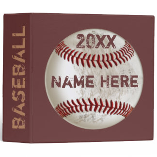 Personalized Baseball Gifts for Kids 3 Ring Binder