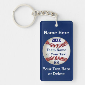 Personalized Baseball Gifts for Players 5 Text Box Keychain