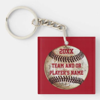 Personalized Baseball Gifts for Players Keychain
