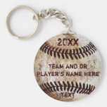 PERSONALIZED Baseball Gifts for Players, Seniors Keychain