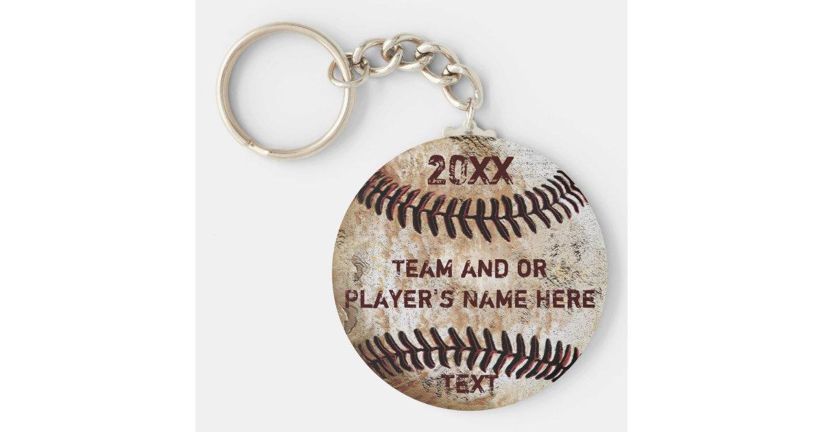 Baseball Player Gift Baseball Mom Gift Personalized Gift Baseball Keychain Customizable Gift Player Name Number Baseball Bat Keychain