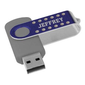 Personalized, Baseball Gray Blue USB Flash Drive