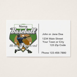 Personalized Baseball Home Run Business Card