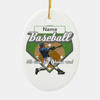 Personalized Baseball Home Run Ceramic Ornament