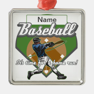 Personalized Baseball Home Run Metal Ornament
