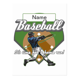 Personalized Baseball Home Run Postcard
