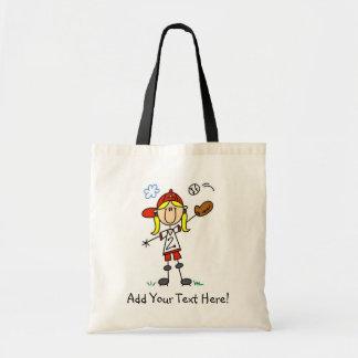 Personalized Baseball Home Run Tote Bag