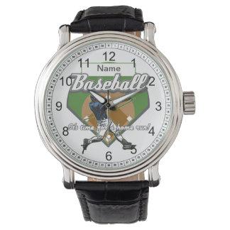 Personalized Baseball Home Run Wristwatch