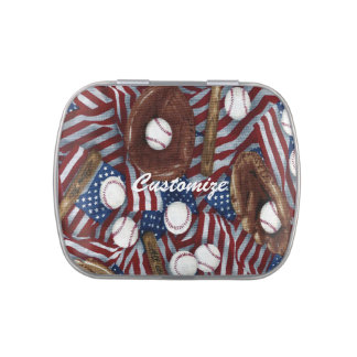 Personalized Baseball In The USA Jelly Belly Favor Jelly Belly Candy Tins