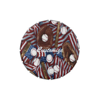 Personalized Baseball In The USA Jelly Belly Tin