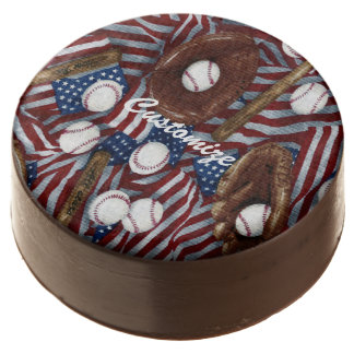 Personalized Baseball In The USA Oreo Cookies Chocolate Covered Oreo