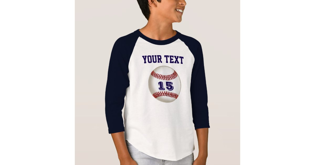 Personalized baseball jersey your name and number t shirt for Baseball jersey t shirt custom