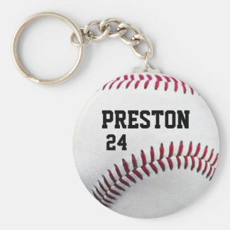 Personalized Baseball Keychain